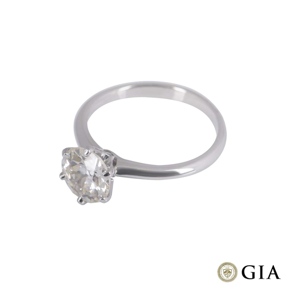 White Gold Old European Cut Diamond Ring 1.61ct M/VS2